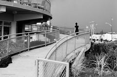 walkway (mfauscette) Tags: 35mm fsc ishootfilm istillshootfilm kodak kodakportra800 nikon nikonf6 analog asburypark beach blackandwhite boardwalk dof fence film filmisnotdead filmshooterscollective jerseyshore street