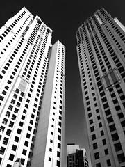 Orban Eq Trx4 (Ovais M) Tags: city blackandwhite bw white black streets architecture buildings photography design dubai uae structure minimal rak bnw citywalk iphone jbr dubaimall festivalcity iphone6s mydubai