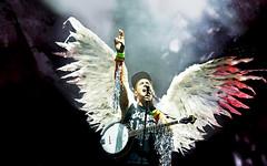 Sufjan Stevens, mythical creature (kirstiecat) Tags: music concert wings live band sufjanstevens pitchfork comeonfeeltheillinoise sevenswans pitchforkmusicfestival carrielowell