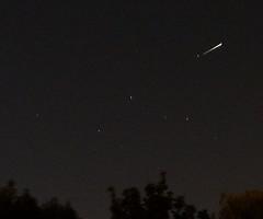 Iridium Flare in Cassiopea (fdecomite) Tags: sky night flare iridium