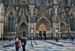 The west facade of the Cologne Cathedral (PhotosToArtByMike) Tags: colognecathedral colognegermany dom cologne germany koln gothicarchitecture facade klnerdom highcathedralofsaintspeterandmary oldtown rhineriver oldquarterofcologne europe