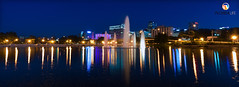 Florida Life: Colors Of Orlando (Thncher Photography) Tags: sony a7r2 sonya7r2 ilce7rm2 zeissfe1635mmf4zaoss fx fullframe longexposure scenic landscape waterscape cityscape skyscrapers lights colors reflections orlando lakeeola florida