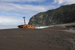 Denham Bay wreck (cathm2) Tags: newzealand kermadecs raoul island beach bay denham travel coast shore wreck boat rust