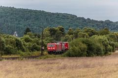 3227_2016_07_16_Haunetal_Neukirchen_DB_185_215_mit_Containertragwagen_und_2_Containern_Fulda (ruhrpott.sprinter) Tags: ruhrpott sprinter deutschland germany nrw ruhrgebiet gelsenkirchen lokomotive locomotives eisenbahn railroad zug train rail reisezug passenger gter cargo freight fret diesel ellok hessen haunetal boxxboxxpress db egp ell hhla hsl hvle lbllocon metrans mrcedispolokdispo bb railpoolrpool rbh rhc schweerbau sbbc txltxlogistik wienerlokalbahnencargo 143 145 152 182 185 193 218 270 428 650 1264 1266 421 es64u2 es64f4 greencargo ice r5 outdoor logo natur sonnenaufgang graffiti rinder