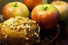 Truly Autumn (juliafrenchfrey) Tags: food vegan crueltyfree foodporn fruit apple apples donut donuts doughnut doughnuts