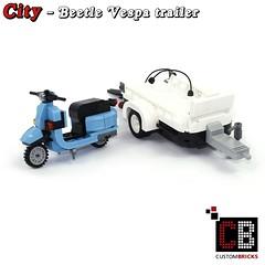 LEGO_Custom_VW_Beetle_10252_Vespa_CB04 (LA-Design2012) Tags: lego custom moc city creator expert beetle 10252 custombricks trailer anhnger vespa roller