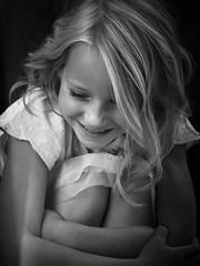 Enjoy life  (heidikesteloot) Tags: smile joy girl child portrait mextures blackandwhite photography