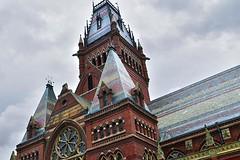 Steeple, Memorial Hall (AntyDiluvian) Tags: boston massachusetts cambridge harvard college university building architecture tower steeple memhall memorialhall victorian