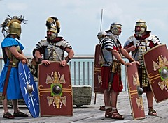 Just Roman Around MMXVI (jimjiraffe) Tags: centurion roman romans soldiers armour costume gladiators romansandals windwand newplymouth taranaki canon sx710hs jimjiraffe jimevans