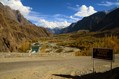Welcome to PTDC Motel Gupis Lake (NotMicroButSoft (Fallen in Love with Ghizar, GB)) Tags: autumn water river lakes ghizar phandar gupis khalti gilgitbaltistan