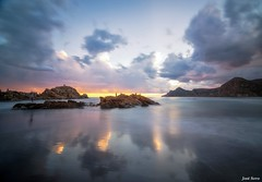 Reflejos (Legi.) Tags: longexposure sunset seascape landscape atardecer nikon tokina cartagena 116 d600 portmn launin