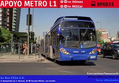 Apoyo Metro L1 (SuBus Chile) (Mr. Mobitec) Tags: chile santiago bus buses volvo publictransport metrodesantiago transporte marcopolo santiagodechile transantiago lascondes transportepúblico línea1 escuelamilitar metroescuelamilitar granviale b9salf subus marcopologranviale troncal2 subuschile volvob9salf apoyometro fallametro alertametro