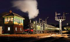 Leaving Horsted Keynes (Treflyn) Tags: london station night train during coast photo jon brighton shoot south rail railway loco photographic class steam southern locomotive keynes bluebell let charter bowers 062 e4 473 lbscr horsted b473 062t