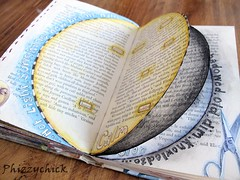 Altered Book Pages - Opposites! (Phizzychick!) Tags: sun moon altered book yang alteredbook page yin alteredart alteredjournal