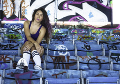 Sk8 at the Marina Stadium (ladygraybooking) Tags: portrait urban art photography graffiti model miami artbasel ladygray