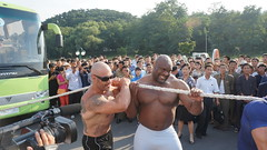 Pro-wrestlers including The Beast entertain a crowd of North Koreans (uritours) Tags: northkorea dprk coriadonorte sportvemcoriadonorte globoemcoriadonorte