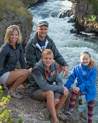 Family Photo Along Firehole Riverr (Christopher Lane Photography) Tags: trip family vacation sky horse mountains hot west water beautiful landscape fun waterfall amazing emily buffalo cabin scenery cowboy rocks colorful unitedstates hiking gorgeous brian awesome oldfaithful trails falls lodge riding steak western chase fields yellowstone wyoming peaks angela bison hotsprings geysers