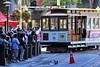 Powell Street Turnaround (AntyDiluvian) Tags: sanfrancisco california trip crowd tracks turntable line muni cablecar marketstreet westcoast powellstreet turnaround