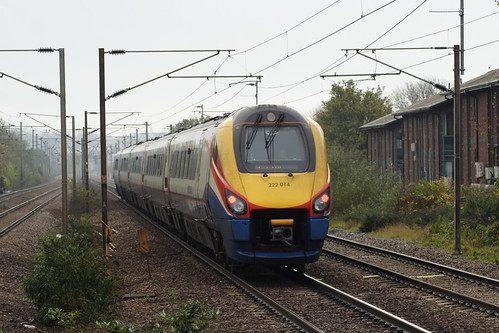 20141109 012 Mill Hill Broadway. 222014 Hurries Past With 1C23, 06.55 Derby - St Pancras