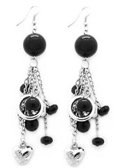 5th Avenue Black Earrings P5120A-2
