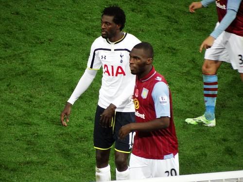 Emmanuel Adebayor and Christian Benteke