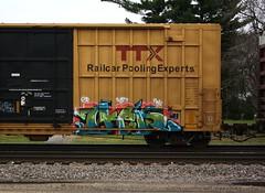 Ikew (quiet-silence) Tags: railroad art train graffiti railcar boxcar graff freight wh ttx fr8 kbt fbox ikew ikews fbox505870