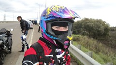 b134 (no_penetrate) Tags: girl helmet moto balaclava