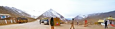 Chang La..... A Panorama (pallab seth) Tags: panorama india mountain cold weather landscape wind cloudy altitude pass windy kashmir leh himalayas himalayan ladakh jammukashmir changla borderroadsorganisation highpasses pangonglakeroad