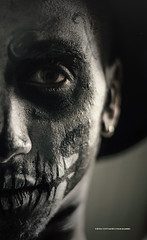 304 - Phyilippe (olivierchevalier_photographie) Tags: portrait white man black halloween dark photography horror 2014