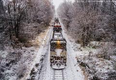 Scotland Snow (TeeVeeJim) Tags: road county railroad snow storm train franklin scotland branch pennsylvania norfolk rail southern valley flakes freight cumberland kcs lurgan 37q