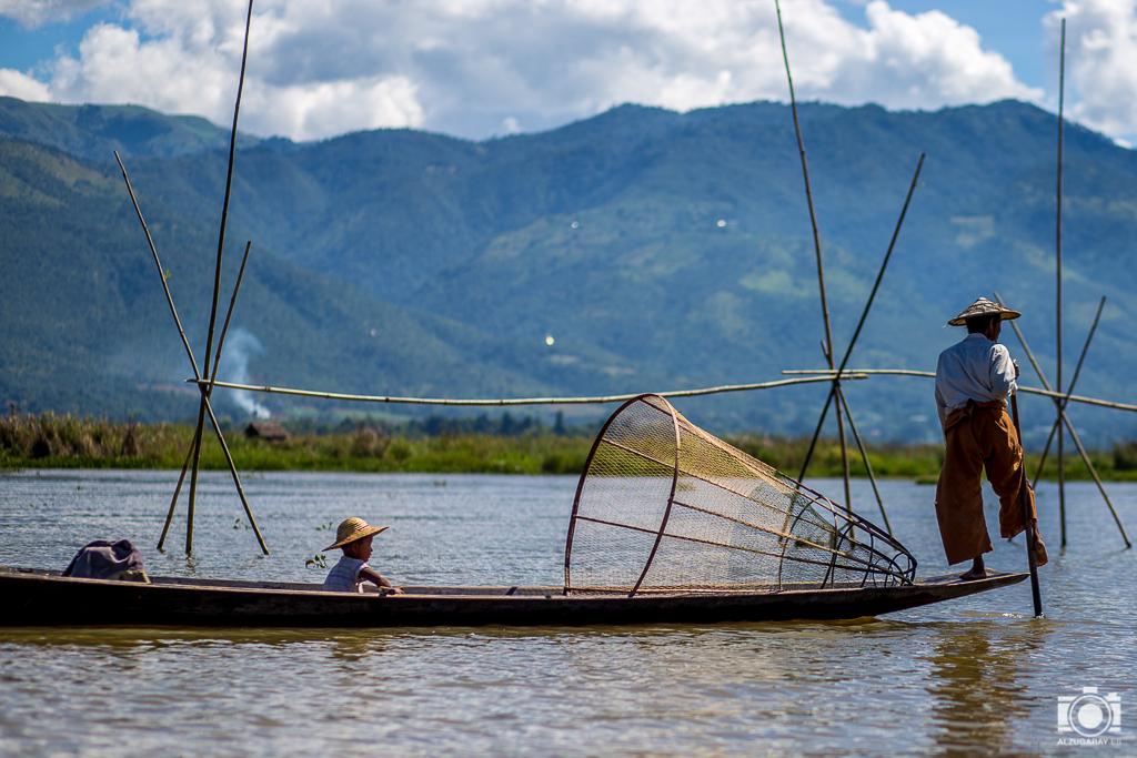 Pescadores en Inle Lake