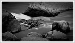 the River (:: Blende 22 ::) Tags: longexposure blackandwhite white black water monochrome canon river blackwhite stones steine fluss ef70200mmf4lisusm canoneosd canoneos5dmarkii