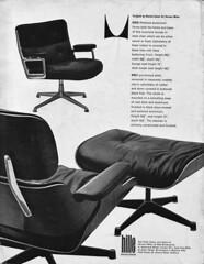 hille eames ad 1963 (smallritual) Tags: ad eames hermanmiller 1963 670 hille 675 671 designmagazine lobbychair eamesloungechairandottoman timelifechair