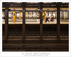 Penn Station Subway Platform (G Dan Mitchell) Tags: street city people urban usa newyork america underground subway print state manhattan north stock columns tracks stop transit license 34 pennstation