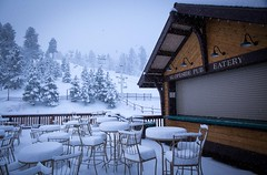 Snow Covered Slopeside Pub
