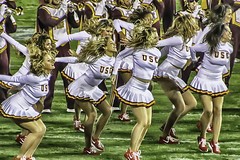 Scenes From USC v UCLA: Song Girls (Steve Mitchell Gallery) Tags: dance football cheerleaders ucla usc bruins cheer rosebowl universityofsoutherncalifornia ncaa trojans collegefootball universityofcaliforniaatlosangeles songgirls