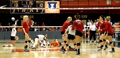 OSU gets one (RPahre) Tags: ohiostateuniversity ohiostate osu theohiostateuniversity universityofillinois champaign illinois huffhall huff volleyball robertpahrephotography copyrighted donotusewithoutwrittenpermission