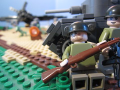 Taking the airfield pt. 2 (cebtrek) Tags: lego wwii brickarms