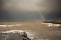 Rainbow on Temara x2 ;) (aminefassi) Tags: sea sky copyright seascape beach water rain weather clouds landscape rainbow morocco rainy maroc plage  costal arcenciel 6d temara skhirat ainatiq ef2470mmf28ii aminefassicom