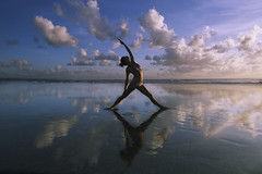 Stay Fit Yogis (stayfityogis) Tags: ocean morning sunset sea sky bali orange woman beach nature girl beautiful beauty silhouette sport rock yoga female clouds training sunrise pose indonesia asian outdoors evening living concentration healthy energy slim exercise body background lifestyle health gymnastics warrior balance recreation meditation practice relaxation shape fitness healthcare stretching wellness flexible