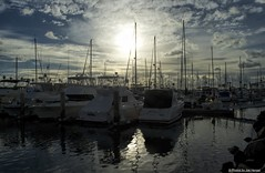 Going, going...... (Joe Hengel) Tags: california sunset clouds boats pacificocean socal oceanside southerncalifornia oceansideharbor