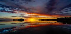 Sunset over Astotin Lake, Elk Island National Park, Alberta, Canada (Artvet) Tags: sunset sky panorama lake canada nature water landscape outdoors places paisaje alberta paysage picturesque landschaft elkislandnationalpark astotin explorecanada