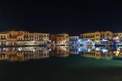 Venetian harbour, Rethymno (Theophilos) Tags: reflection night harbour crete venetian rethymno νύχτα κρήτη λιμάνι αντανάκλαση ενετικό ρέθυμνοο