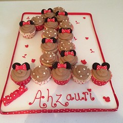 Minnie Mouse cupcakes by Brittany, Pittsburgh, PA, www.birthdaycakes4free.com