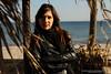christina 4 (Kostas Gourgiotis (Cost@s)) Tags: winter sea wild sexy girl leather scarf canon photoshoot cigarette christina smoke journal smoking jeans jacket brunette bikers kostas 50mmf18ii a 60d gourgiotis