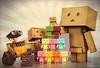 Danbo Pyramido (Figure Focus) Tags: family original toys mini retro collection cardboard figurines pixar normal nano figures kaiyodo yotsuba danbo 海洋堂 danbooru revoltech リボルテック wall•e danboard ダンボー cardbo danboru