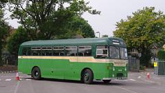 DB739.  AEC Reliance. (Ron Fisher) Tags: uk greatbritain england bus green pentax unitedkingdom transport gb publictransport farnborough reliance aec pentaxkx aecreliance aldershotdistrict farnboroughbusrunningday