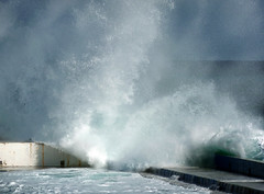 Surf (albireo 2006) Tags: sea storm water weather mediterranean surf wave malta foam rough splash breaker breakingwave sliema roughsea