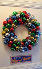 Happy New Year (SA_Steve) Tags: reflections festive balls reflected wreath ornaments happynewyear
