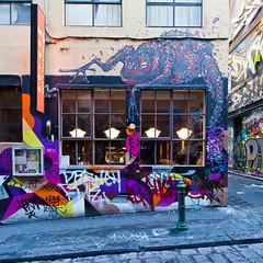 Hosier Lane . Melbourne (:: Blende 22 ::) Tags: streetart streets color art canon graffiti colorful australia melbourne victoria lane australien bunt hosierlane wideangel strasen ef1740mmf4lusm canoneosd canoneos5dmarkii strasenszene